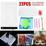 Quality Topia LLC A4 with 20pcs Tools Led Tablet Drawing Light Box Board