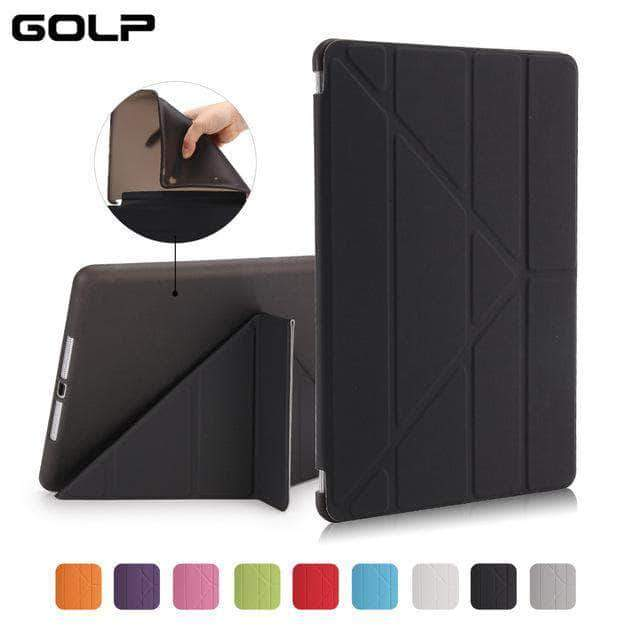 Quality Topia LLC Black Case Cover for iPad 9.7 PU Leather Smart Cover