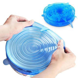 Quality Topia LLC blue 6pcs Reusable Silicone Stretch Lids