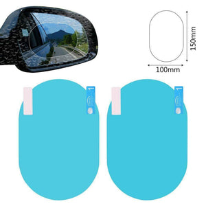 Quality Topia LLC blue oval 10x15cm Anti Fog Rainproof Car Window Mirror