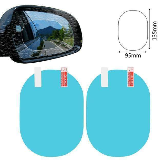 Quality Topia LLC blue oval 9.5x13.5cm Anti Fog Rainproof Car Window Mirror