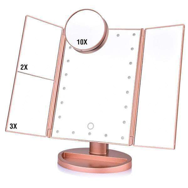Quality Topia LLC China / Pink LED Touch Screen Magnifying Makeup Mirror