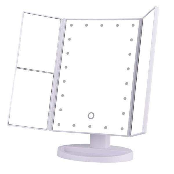 Quality Topia LLC China / White LED Touch Screen Magnifying Makeup Mirror