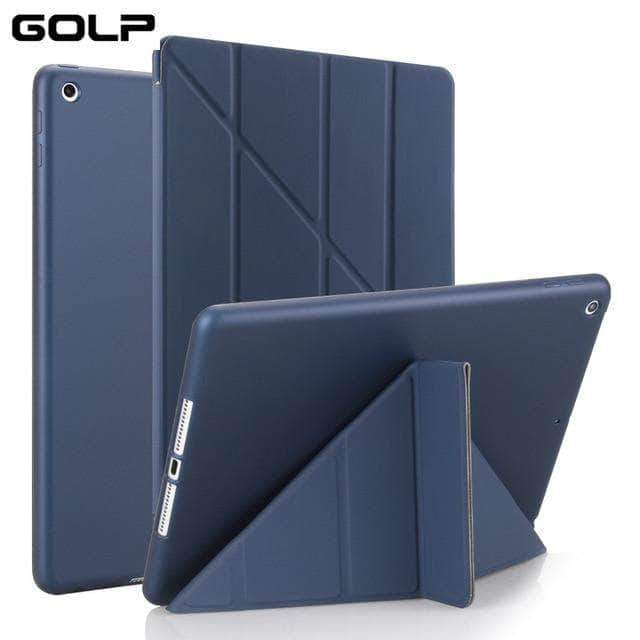 Quality Topia LLC Dark blue Case Cover for iPad 9.7 PU Leather Smart Cover