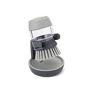 Quality Topia LLC Dark Gray Soap Dispensing Brush