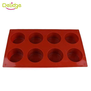 Quality Topia LLC Default Title 8 Holes Round Silicone Cupcake Maker