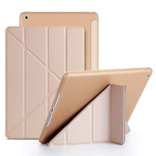 Quality Topia LLC Gold Case Cover for iPad 9.7 PU Leather Smart Cover