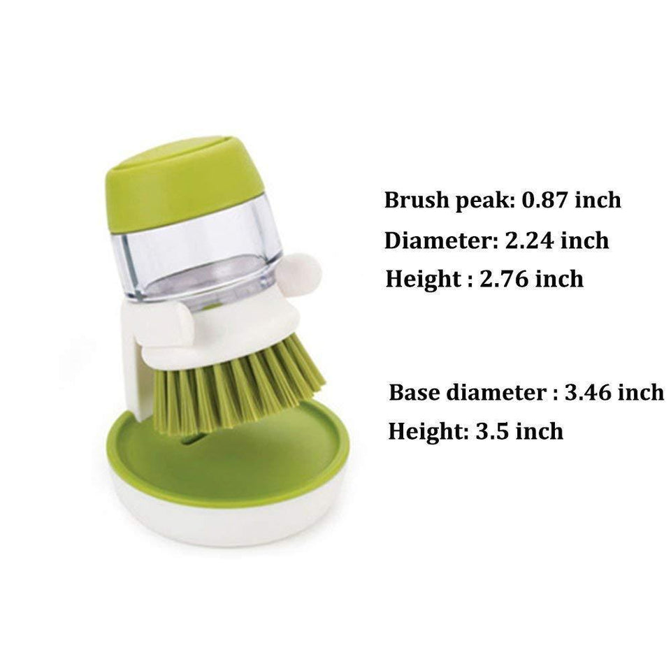 Quality Topia LLC Green Soap Dispensing Brush