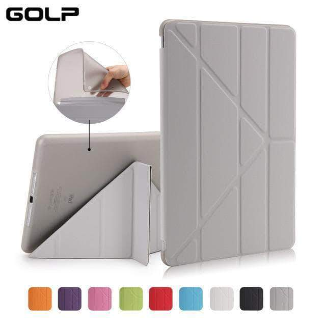 Quality Topia LLC Grey Case Cover for iPad 9.7 PU Leather Smart Cover