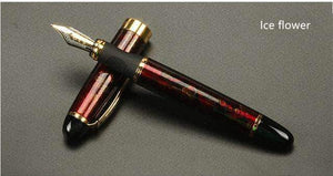 Quality Topia LLC Ice Flower Luxury Full Metal Golden Clip Fountain Pen
