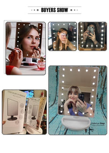 Quality Topia LLC LED Touch Screen Makeup Mirror