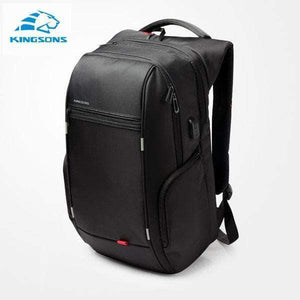 Quality Topia LLC Model A Black / 15 Inch Anti-theft Waterproof Backpack