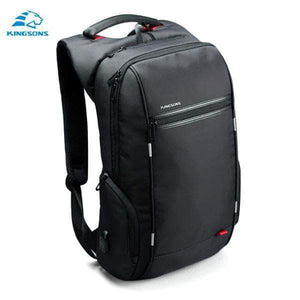 Quality Topia LLC Model B Black / 17 Inch Anti-theft Waterproof Backpack