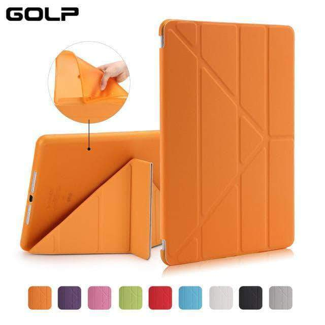 Quality Topia LLC Orange Case Cover for iPad 9.7 PU Leather Smart Cover