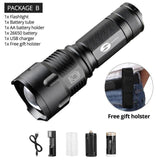 Quality Topia LLC Package B / L6 Waterproof Zoom Tactical Torch