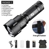 Quality Topia LLC Package C / L6 Waterproof Zoom Tactical Torch