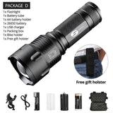 Quality Topia LLC Package D / L6 Waterproof Zoom Tactical Torch