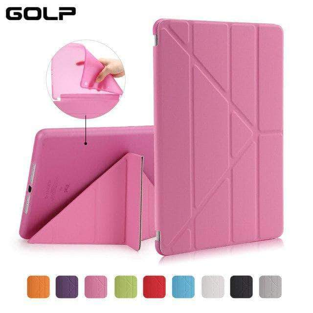 Quality Topia LLC Pink Case Cover for iPad 9.7 PU Leather Smart Cover