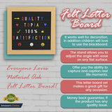 Quality Topia LLC Premium Natural Oak Felt Letter Board