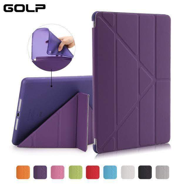 Quality Topia LLC Purple Case Cover for iPad 9.7 PU Leather Smart Cover