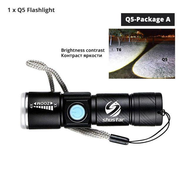 Quality Topia LLC Q5-Package A USB Powerful Portable Led Flashlight