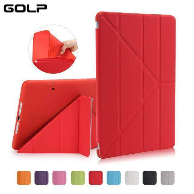 Quality Topia LLC Red Case Cover for iPad 9.7 PU Leather Smart Cover