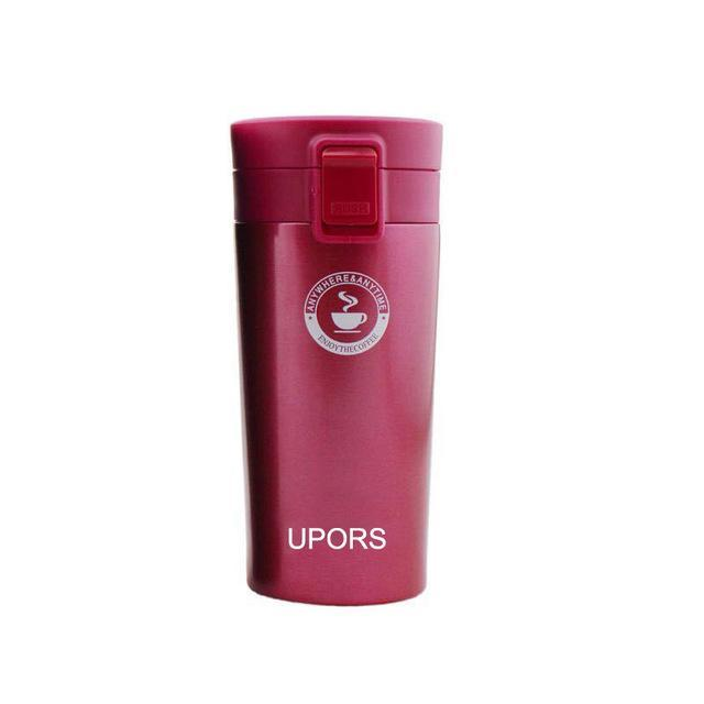 Quality Topia LLC Red Premium Stainless Steel Travel Coffee Mug
