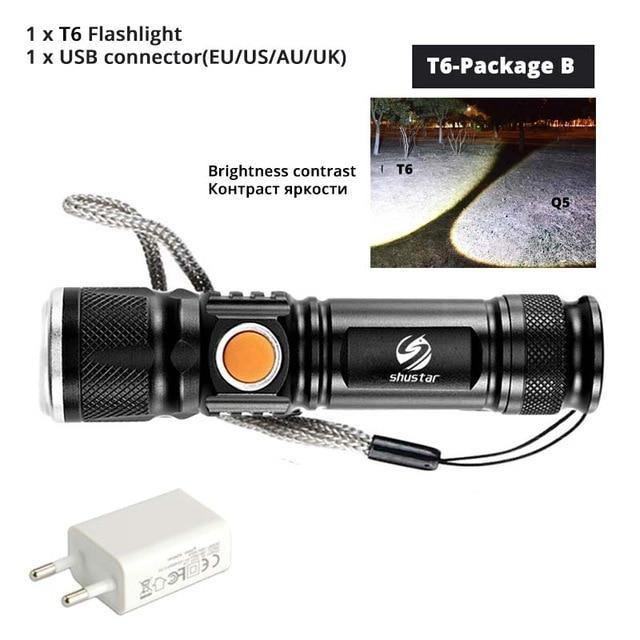 Quality Topia LLC T6-Package B USB Powerful Portable Led Flashlight