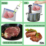 Quality Topia LLC Ultimate Sous Vide Bags & Hand Pump Kit