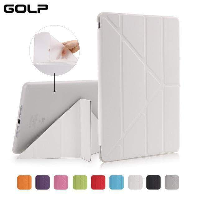 Quality Topia LLC White Case Cover for iPad 9.7 PU Leather Smart Cover