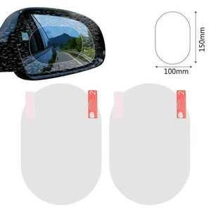 Quality Topia LLC white oval 10x15cm Anti Fog Rainproof Car Window Mirror