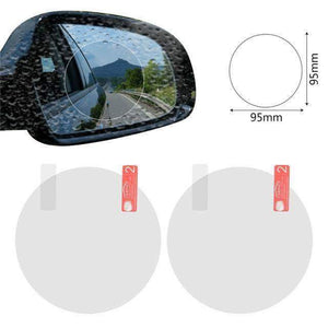Quality Topia LLC white round 9.5x9.5 Anti Fog Rainproof Car Window Mirror