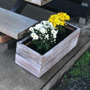 My Rustic Flower Planter Boxes