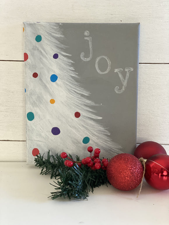 Christmas Tree Joy Painting | Art by EllaQuaint - Signed Jaclyn