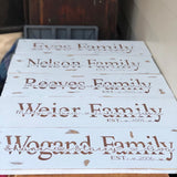 Rustic Farmhouse Inspired Personalised Family Name Sign - Signed Jaclyn