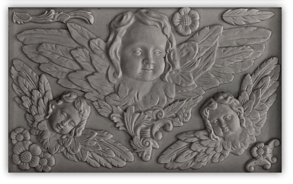 Iron Orchid Designs Decor Moulds – Classic Cherubs - Signed Jaclyn