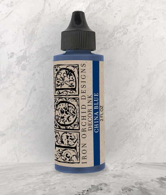 Iron Orchid Designs Decor Ink – China Blue - Signed Jaclyn