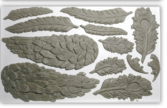 Iron Orchid Designs Decor Moulds – Wings and Feathers - Signed Jaclyn