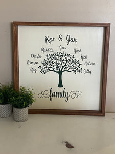 Rustic Farmhouse Family Tree Sign - Signed Jaclyn