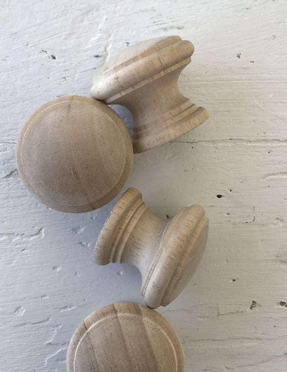 Iron Orchid Designs Hard Wood Knobs - Signed Jaclyn