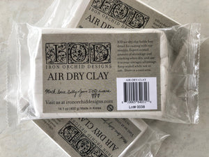 Iron Orchid Designs Decor – Air Dry Clay - Signed Jaclyn