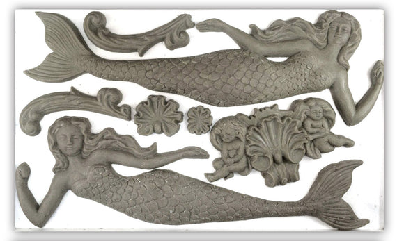 Iron Orchid Designs Decor Moulds – Sea Sisters - Signed Jaclyn