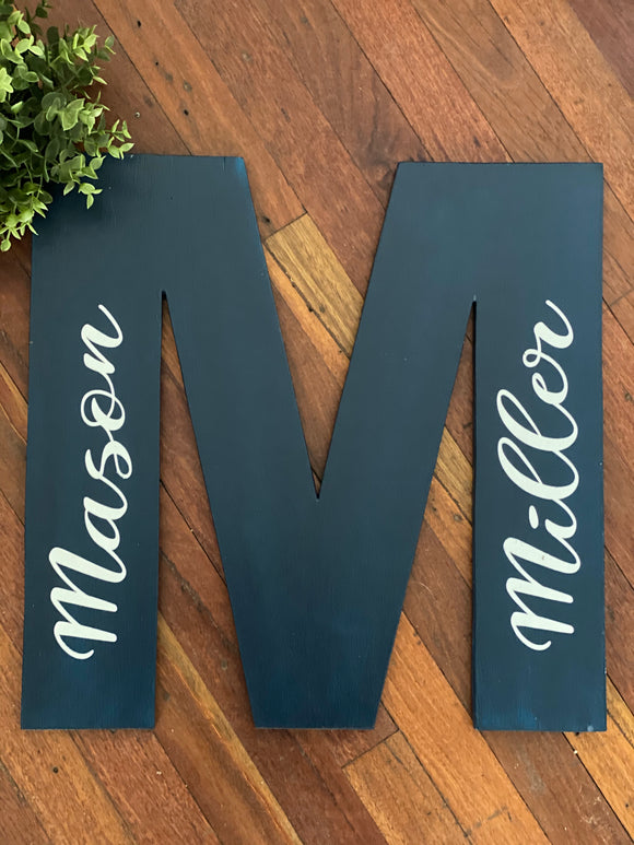 Wooden Letter Sign - Signed Jaclyn