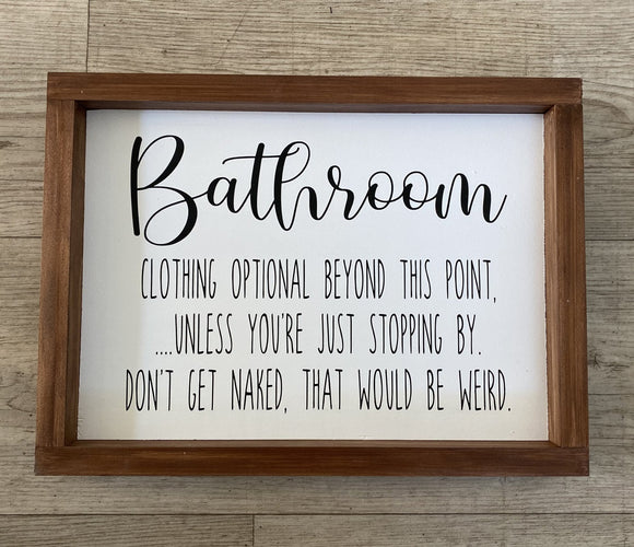 Bathroom Sign | Signed Jaclyn