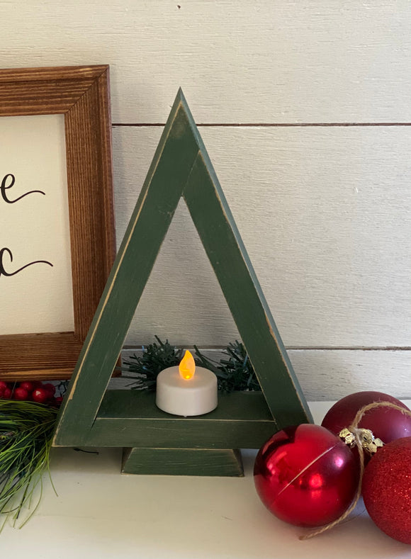 Farmhouse Christmas Tree Tea Light Holder | Signed Jaclyn - Signed Jaclyn
