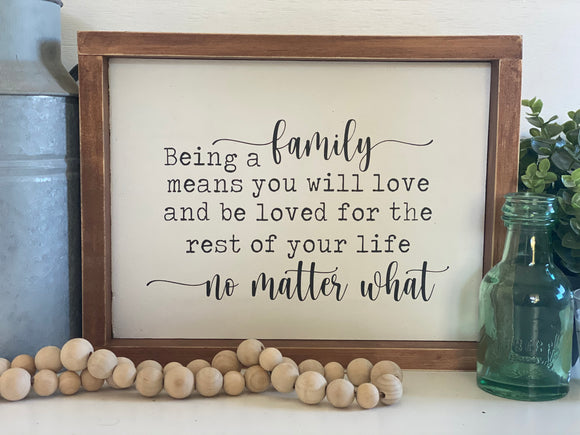 Being a Family | Signed Jaclyn