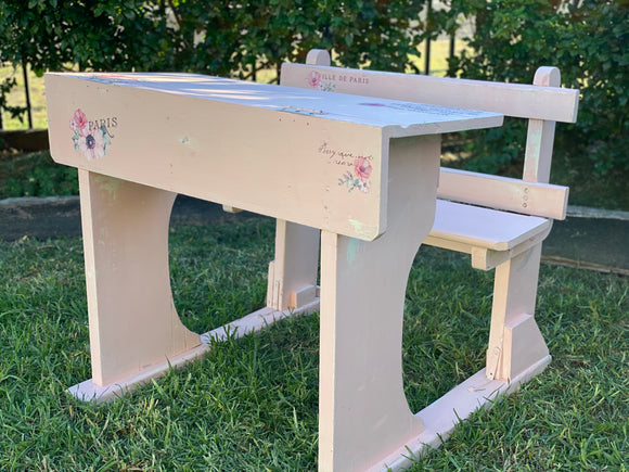 Coraline Pink School Desk - Signed Jaclyn