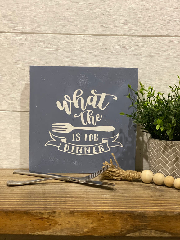 What the forks for dinner Kitchen Sign | Signed Jaclyn
