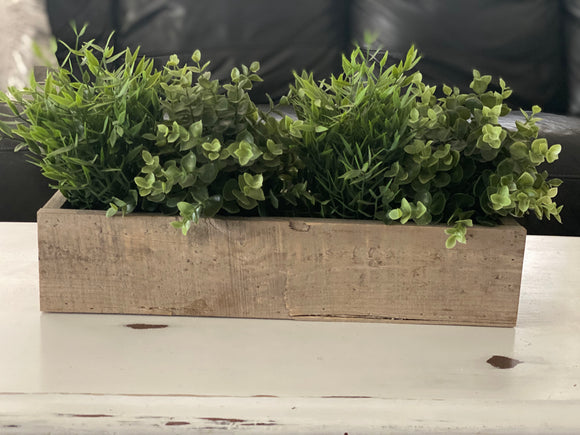 Rustic Wood Planter Box | Signed Jaclyn