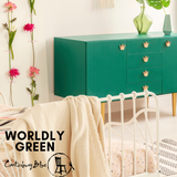 Worldly Green | Canterbury Blue - Signed Jaclyn